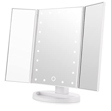 Tri Fold Vanity Mirror With Lights Amazing Amazon Easehold Led Vanity Make Up TriFold With 60Pcs Lights