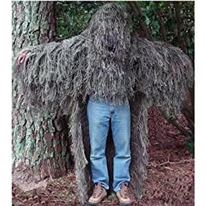 """Military """"STALKER"""" Ghillie Poncho Synthetic Suit - Woodland"""