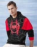 Miracle TM Spiderman Into The Spider Verse Hoodie - Adult Costume Zip Up Sweatshirt for Men