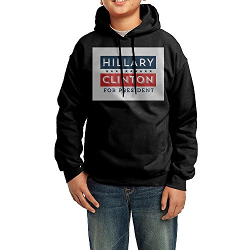 Youth Retro Hillary Clinton For President Cool Hoodie Sweatshirt