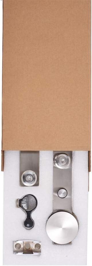 122CM//4FT Herraje para Puerta Corredera Kit de Accesorios para Puertas Correderas Juego de Piezas de acero inoxidable Carril para Puerta Deslizante,para puerta de madera//puerta de cristal