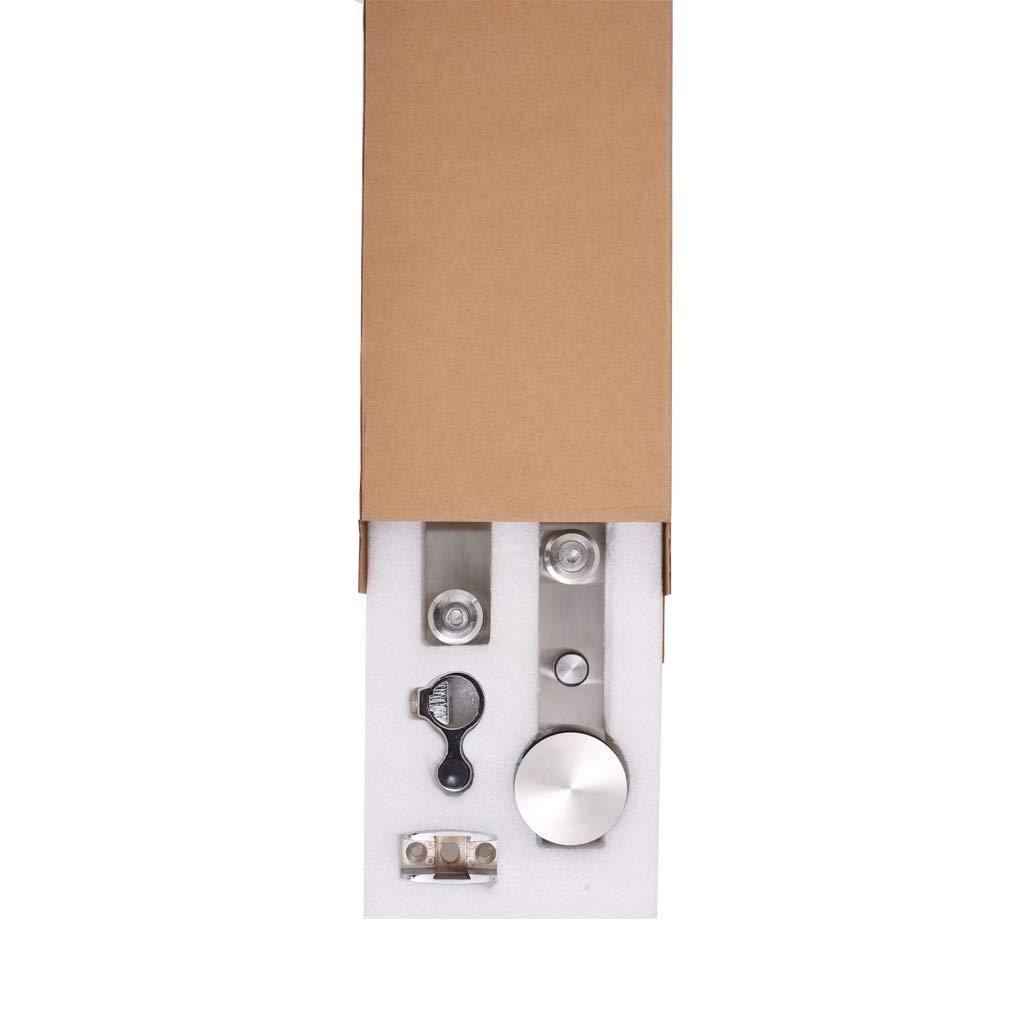 Stainless Steel Sliding Barn Single Door Hardware Kit For Wood//Glass Door 7FT//213cm Schiebet/ürbeschlag Set Schiebet/ürsystem Zubeh/örteil Stahl