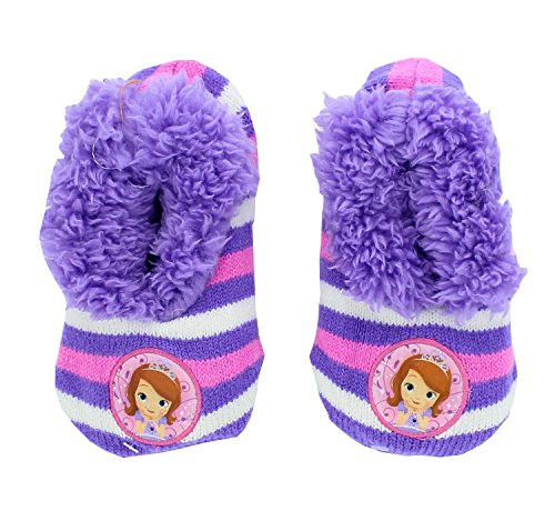 Disney Sofia the First Girls Slipper Socks Shoe Size 9-3 -