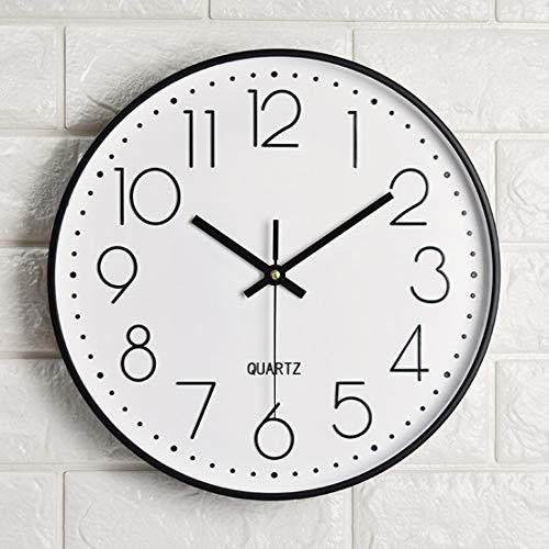 Tosnail 12 Inches Round Silent Non Ticking Quartz Wall Clock - Elegant Black Frame 2