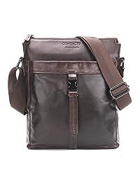 """Contacts Genuine Leather Men 11"""" Messenger Crossbody Shoulder Bag Travel Handbag"""