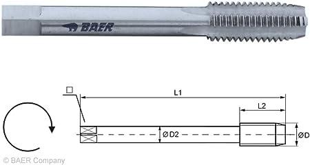 Gewindeschneider M7 HSSG Einschnittgewindebohrer Form D M 7 x 1,0 DIN 352