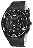 Technomarine Tm-112001 Men's Cruise Night Vision Chrono Black And White Silicone Black Dial Watch