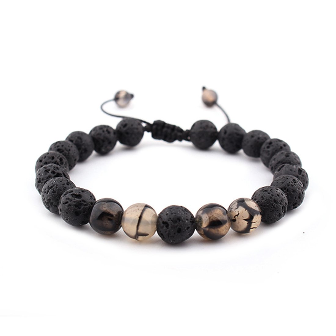 Unisex Adjustable Lava Stone Diffuser Bracele meditation healing natural Volcano stones Bracelets XIAFEN XFSZCANA129-CP