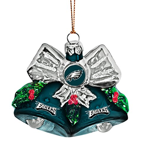 NFL Philadelphia Eagles Glitter Bells Ornament