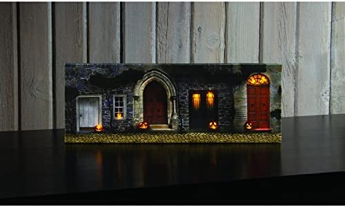 Amazon Com Small Halloween Doorways Lighted Canvas Wall Art Posters Prints