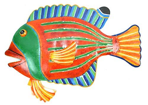 BEAUTIFUL UNIQUE FISH METAL HANGING WALL (Tiki 16