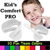Kid's Comfort PRO Youth Double Sports Mouth Guard Wear with or Without Braces (White)