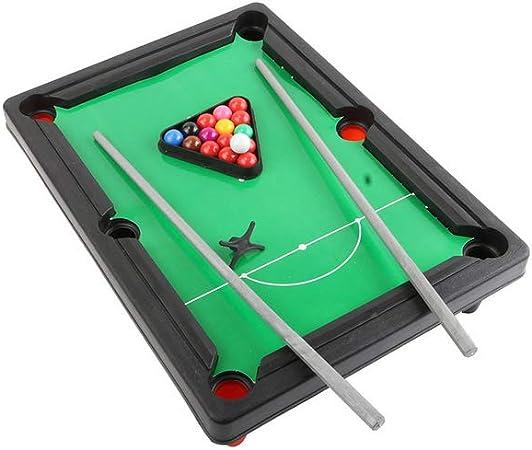 Escritorio en miniatura mesa de billar Mini Set con bolas de piscina Cue Sticks de billar de mesa juguete Inicio del escritorio de oficina del alivio de tensión Juegos para Niños Adultos