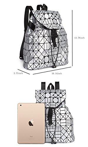 MATAGA - Bolso mochila  de poliuretano para mujer marrón