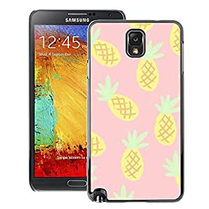 A-type Arte & diseño plástico duro Fundas Cover Cubre Hard Case Cover para Samsung Note 3 N9000 (Pineapple Drawing Cannabis Smoke 420)