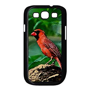 Red Bird Watercolor style Cover Samsung Galaxy S3 I9300 Case (Birds Watercolor style Cover Samsung Galaxy S3 I9300 Case)