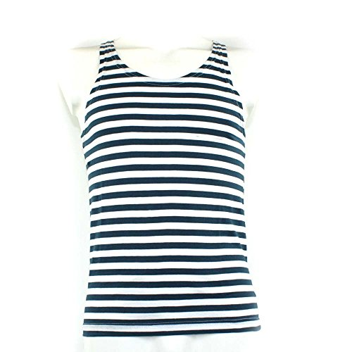 Mil-Tec Blue/White Striped Sailor Tank Top (X-Large) - Striped Sailor