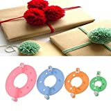 8pcs 4 Sizes Easy Wrap Pompom Pom-pom Maker Fluff Ball Weaver DIY Wool ...