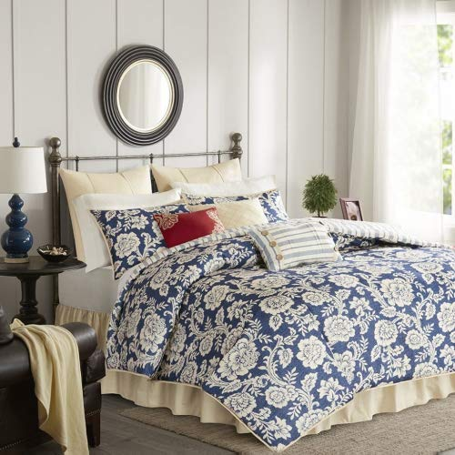 Lucy Cotton Twill 9 Piece Queen Comforter Set by Madison ()