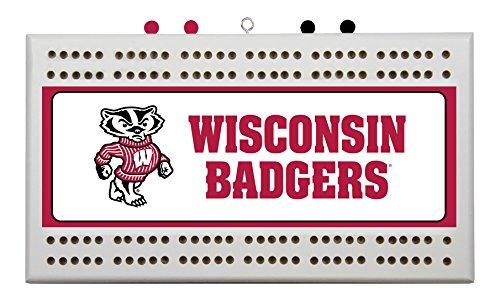 NCAA Wisconsin Badgers Cribbage Board