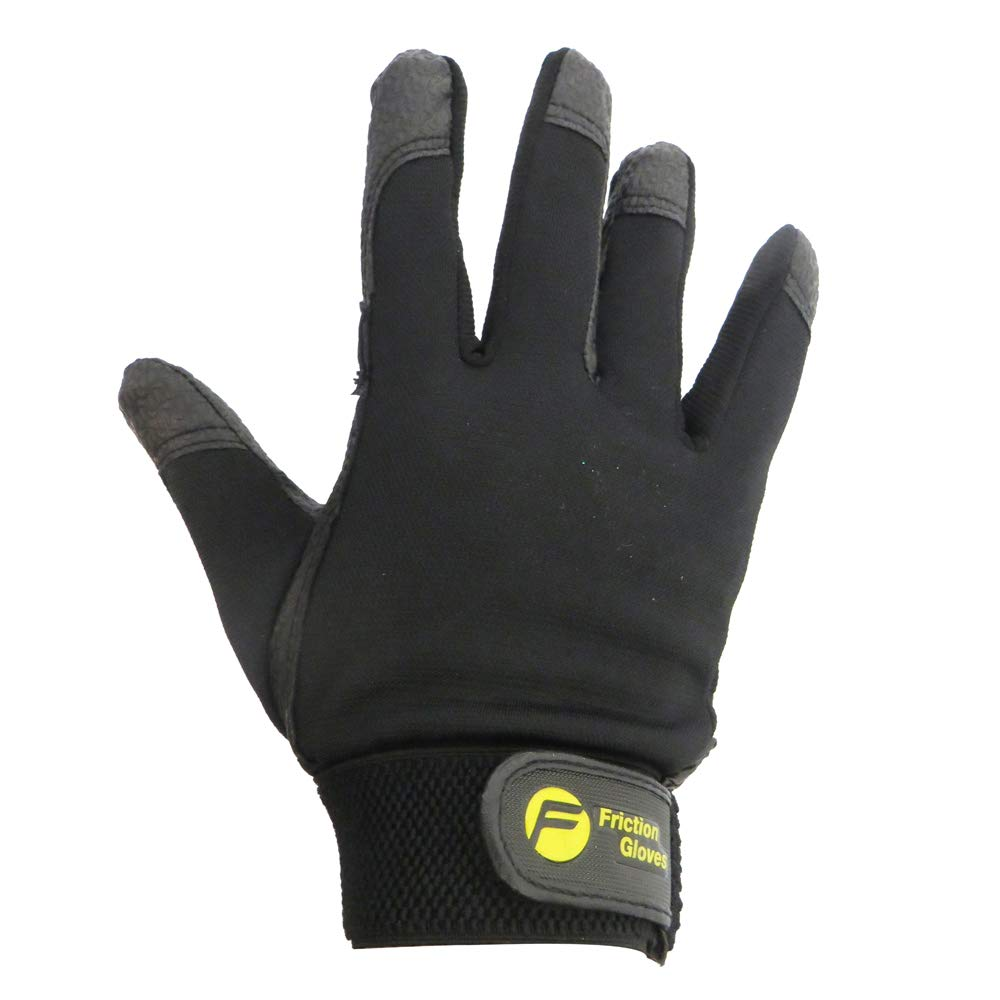 Friction Gloves Friction Warm Fleece-Lined Ultimate Frisbee Gloves - Pair - Black - Men S/Women L by Friction Gloves