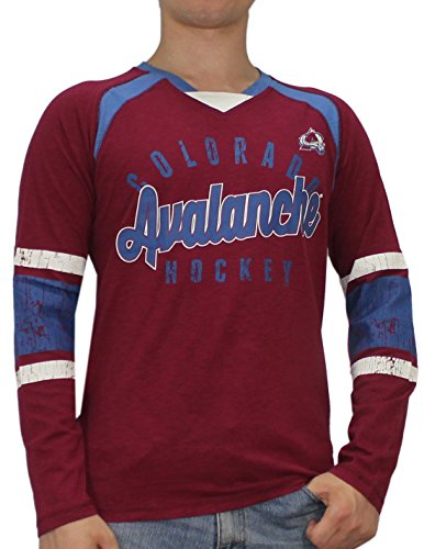 Colorado Avalanche NHL Mens Long Sleeve Sweater Shirt (Vintage Look) S Dark Red