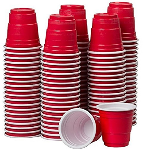 Goodtimes 2oz Mini Party Cups 100ct Bag Perfect size for liquor shots, Jello shots, Halloween Parties, serving condiments and kids love them too! (Red-Bulk) ()