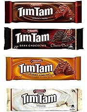 Tim Tam Cookies Arnotts   Australian Classics Sampler (Original, Chewy Caramel, White, Dark)   4 Pack Full Size