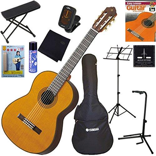 YAMAHA クラシックギター 初心者 入門 トップ単板(杉)モデル 完璧11点セット CG182C B00AOJBALA