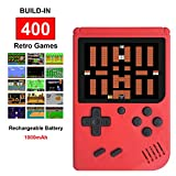 Fiotasy Handheld Retro FC Game Consoles for Boy Girls with 400 Classical NES Games,3 Inch Screen 1000MAH Rechargeable Battery TV Output,Birthday Christmas Gifts for Kids Children Men Women(Red)