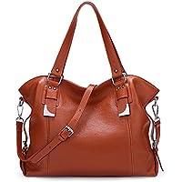 BIG SALE-AINIMOER Womens Leather Shoulder Bag Vintage Handbags Large Tote Top handle Purse Cross Body Bags
