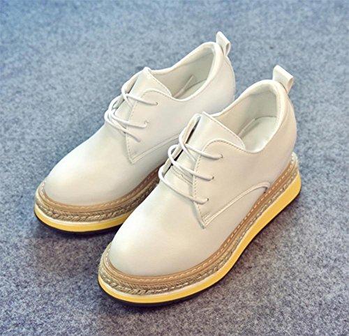 più canapa Ms elevati scarpe casual autunno all'interno scarpe corda piane singolare primavera di scarpe spessa cinghia scarpe femminile White e focaccina crosta scarpe zrvHz