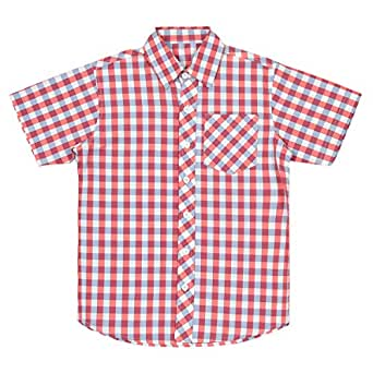 Pink Cotton Shirt Neck Shirts For Boys