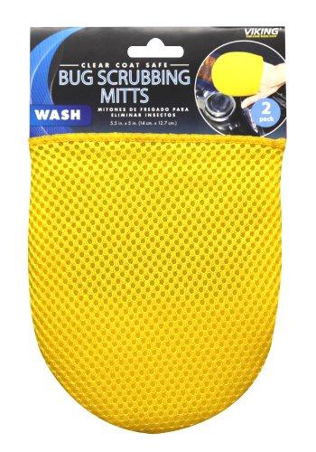 Viking (942700-2PK) Microfiber Bug Scrubbing Mitt, (Pack of 2)