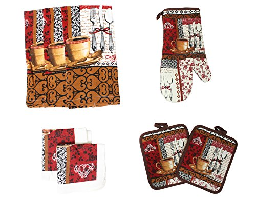 kitchen towel sets coffee - 1