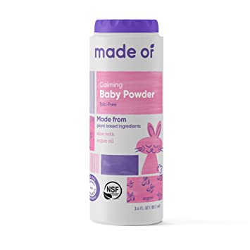 Organic Baby Powder by MADE OF - Talc Free Baby Powder for Sensitive Skin and Eczema