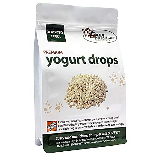 Exotic Nutrition Yogurt Drops 12 oz. - All Natural Healthy Yogurt Treat for Sugar Gliders, Prairie Dogs, Monkeys, Squirrels, Guinea Pigs, Rabbits
