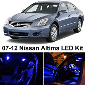 ledpartsnow nissan altima 2007 2012 blue premium led interior lights package kit 10. Black Bedroom Furniture Sets. Home Design Ideas