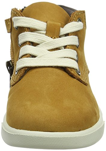 Mixte Bottes Wheat Jaune Leather Chukka Timberland Enfant Groveton xApqSBz