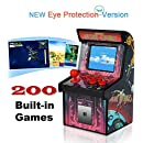 Mini Arcade Game Retro Machines for Kids with 200 Classic Handheld Video Games Home Travel Portable Gaming System Childrens Tiny Toys Novelty Electronics for Boys-RUIER Eye Protection New Version