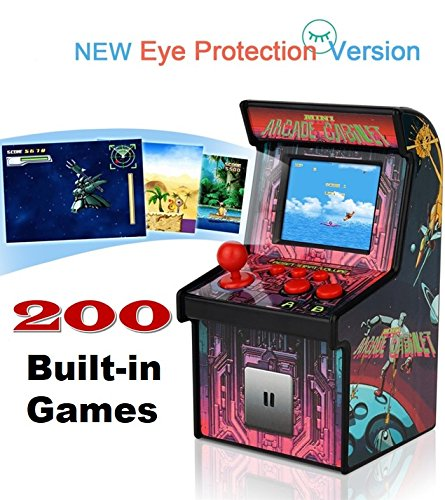 Retro Mini Arcade Game Machines for kids with 200 Classic Handheld Video Games home Travel Portable Gaming System Childrens Tiny Toys Novelty Electronics for Boys-Eye Protection NEW VERSION by RUIER