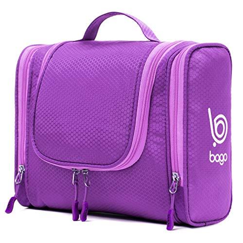 4bff933f5500 Bago Hanging Toiletry Bag For Men   Women - Toiletries Travel Organizer  (Purple)