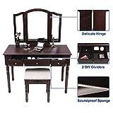 SONGMICS Vanity Table Set, 3 Large Drawers, Tri