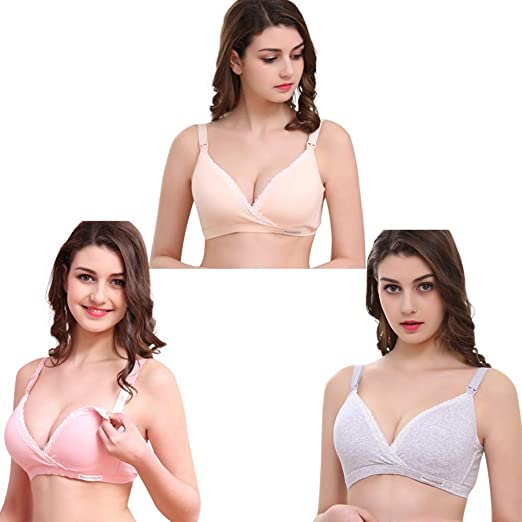 0a79e86a1 Amazon.com  Suma-ma Wirefree Maternity Nursing Bra Cotton Breastfeeding Bra  for Pregnant Women  Clothing