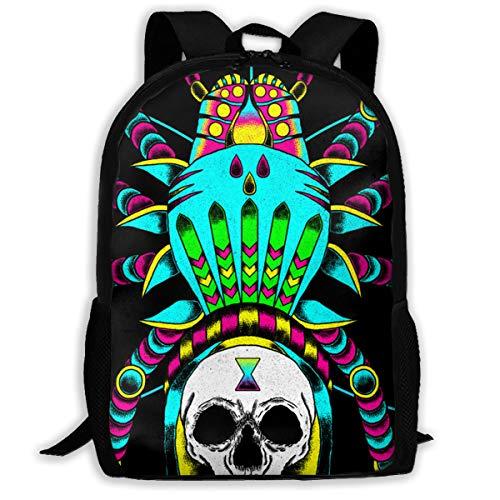 (UYILP Spider Skull Adult Premium Travel Backpack, Water-Resistant Big Business College School Bookbag Daypack,Rucksack, Laptop Bag for Men&Women)