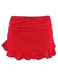 Shekini Women's Ruched Skirt Tankini High Waisted Bottom Swimsuit Bikini