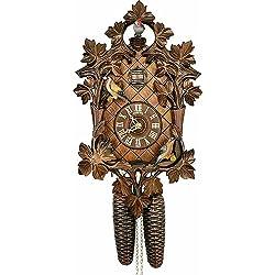Cuckoo Clock 8-day-movement Carved-Style 42cm by Anton Schneider