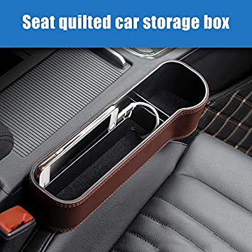 Coffee and Red PerGrate Car Drink Holder Organizer Auto Gap Stowing Beige Car Seat Crevice Storage Box Cup Drink Holder Organizer Auto Stowing Large Capacity Storage Case Black