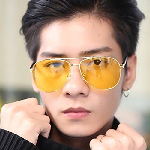Color Sol Conductor Conducción de Gafas Sol Hombre Hombre de Glasses de Blue Polarizer Yellow Gafas Gafas Driving Personality para para 41YzqTfw