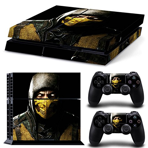 FriendlyTomato PS4 Console and DualShock 4 Controller Skin Set - Kombat Duel - PlayStation 4 Vinyl Mortal Fight -